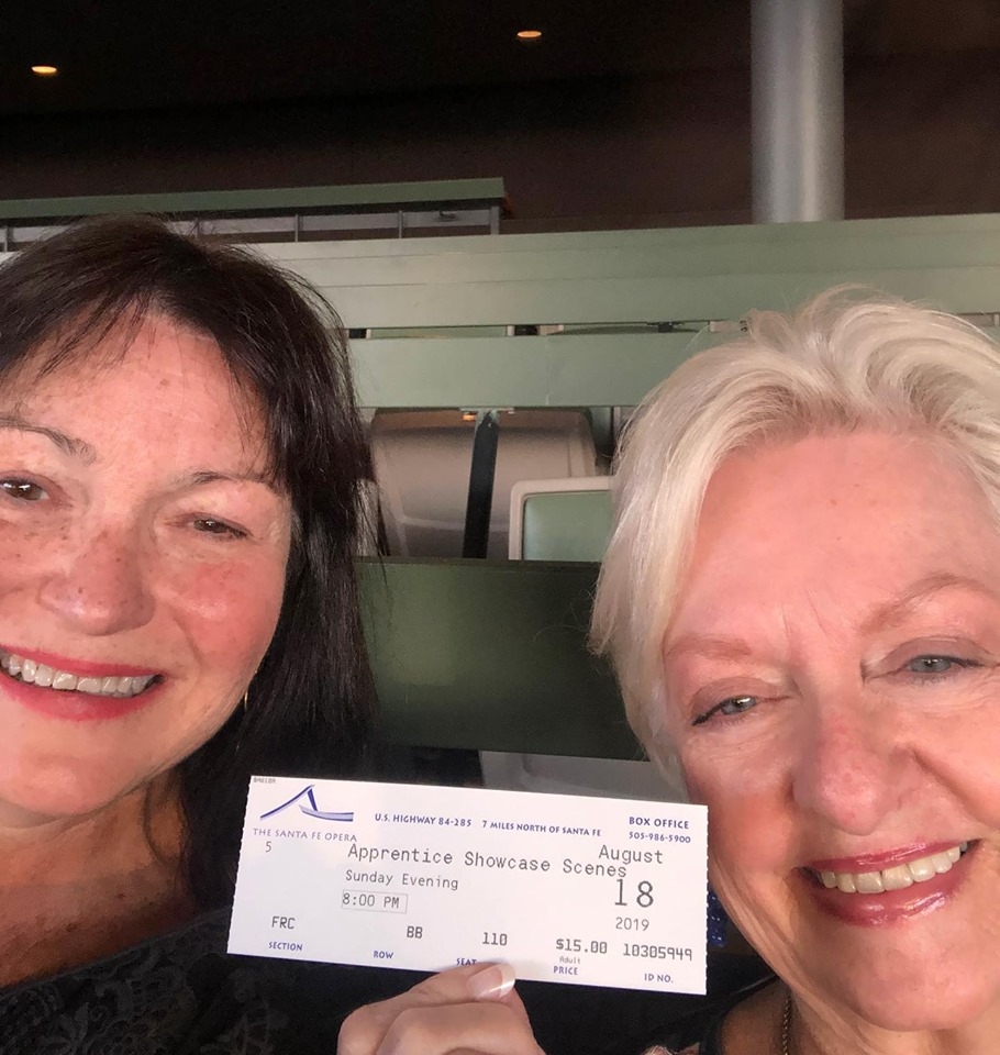 Terry Fowler and Neita Fran Ward with Santa Fe Opera ticket